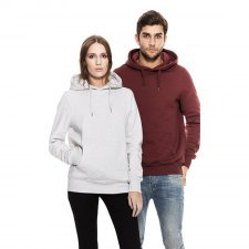 Pullover hoody unisex in organic cotton