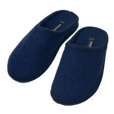 Pure boiled wool slippers - BLUE