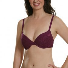 Push-up bra with lace in organic cotton