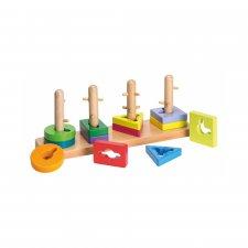 Puzzle a incastro in legno ecologico