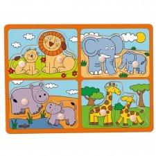 Puzzle in Legno Animali a coppie