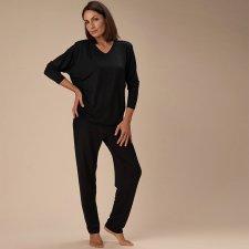 Pyjamas for woman Black in natural fabric