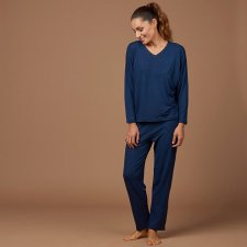 Pyjamas for woman Blue in natural fabric