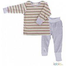 Stripes Pyjama Popolini in organic cotton vellour