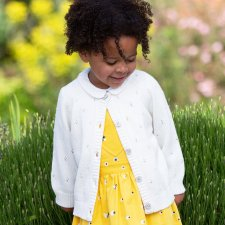 Quay cardi in organic cotton for baby girls