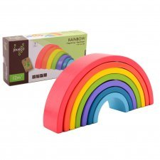 Rainbow blocks in wood Joueco