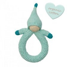 Rattle Blue Doll in organic cotton