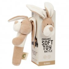 Rattle Bunny in organic cotton