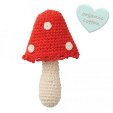 Rattle Mushroom in organic cotton