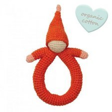Rattle Pink Doll in organic cotton