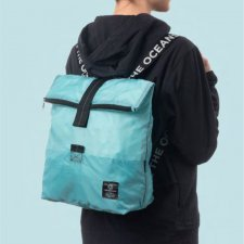 "Recycled folding backpack ""Save our Oceans"""