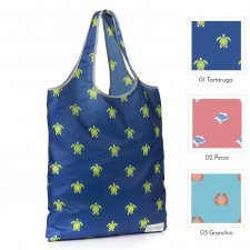 Recycled Folding Shopper Bag Sea Animals Save our Oceans