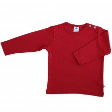 Red organic cotton long sleeve shirt