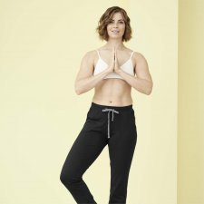 Relax Black woman trousers in organic cotton