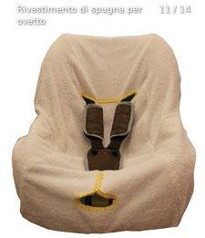 Rivestimento per ovetto in spugna di cotone
