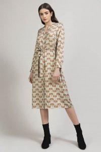 OLEA shirt dress with fabric belt