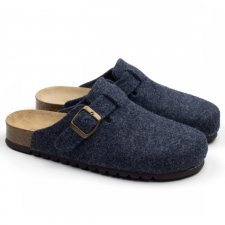 Sabot Belt Jeans in feltro di lana