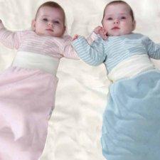 Sacco neonato in ciniglia di cotone biologico