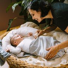 Sacco neonato leggero in 100% cotone biologico