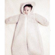 Sacco nanna Perry in lana con cappuccio