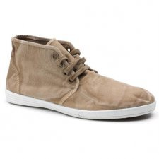 Safari man shoe in organic cotton canvas