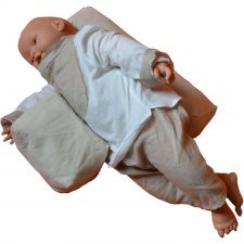 Safe sleep pillow in spelt husks