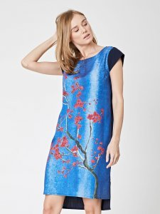 Sakura floral print dress in tencel