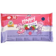 Salviette Biodegradabili Fragola/Mirtillo Happy per bimbi grandi