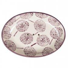 SAMIRA soap dish in hand painted glazed ceramic