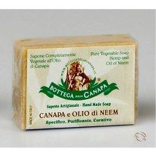 Sapone naturale all'olio di Neem e canapa bio