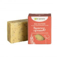 Sapone bio all'olio extravergine d'oliva Papavero e Cipresso - esfoliante