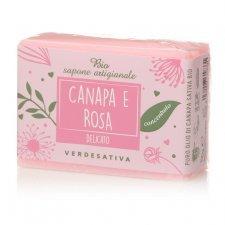 Sapone concentrato delicato Canapa e Rosa Bio Vegan