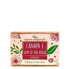 Sapone concentrato esfoliante Canapa e Uva rossa Bio Vegan