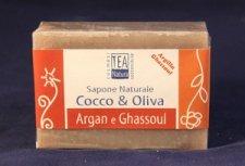 Sapone naturale all'olio di cocco e oliva con argan e ghassoul