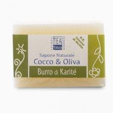 Sapone naturale all'olio di cocco e oliva con burro di karité