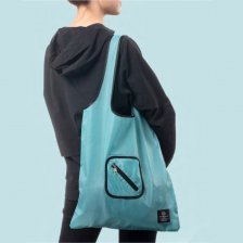 Save our Oceans Borsa Shopper pieghevole riciclata Tinta Unita
