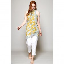Scarf Sarong Block Print Dandelion in fairtrade cotton