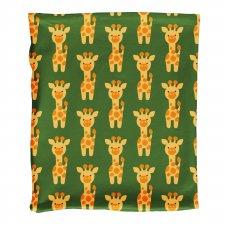 Scarf tube Giraffe in organic cotton velour