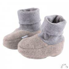 Scarpine per neonati in Pile di cotone biologico Popolini