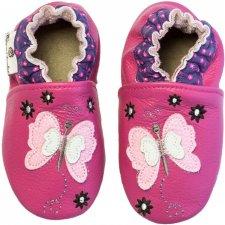 Scarpine Soft Sole Butterfly Fluchsia per bambine
