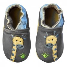 Scarpine Soft Sole Giraffe Grey per bambini