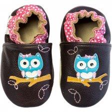 Scarpine Soft Sole Polka Owl Brown per bambine
