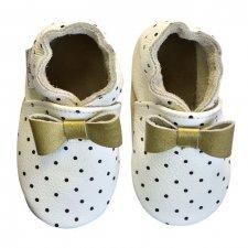 Scarpine Soft Sole Polka Dot White per bambine