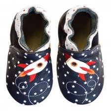 Scarpine Soft Sole Rocket Star Navy per bambini