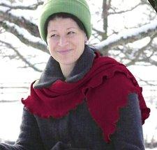 Sciarpa Donna con ruche in lana biologica