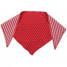 Sciarpina triangolo bavaglino bandana Ibisco pois e righe