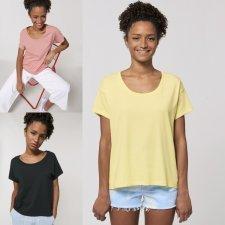 Scoop neck women's t-shirt in organic cotton