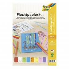 Set fogli di carta per intreccio con strisce incluse