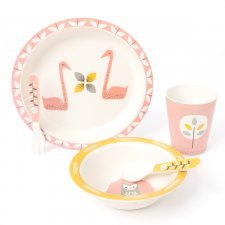 Set pappa in bamboo Cigno