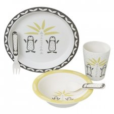 Set pappa in bamboo Pinguini